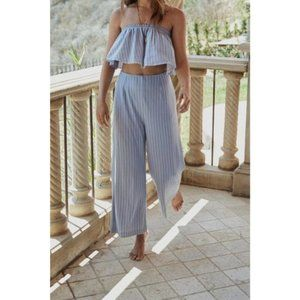 Sage The Label Wild One Blue Striped Cropp…